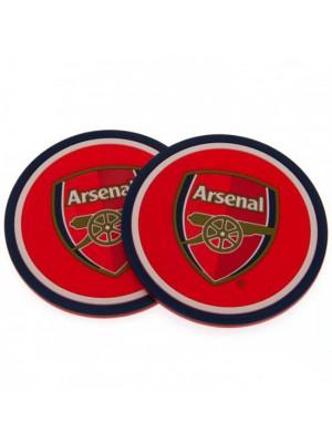 Arsenal Fc 2 Pack Coaster Set