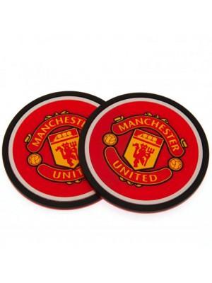 Manchester United FC 2 Pack Coaster Set