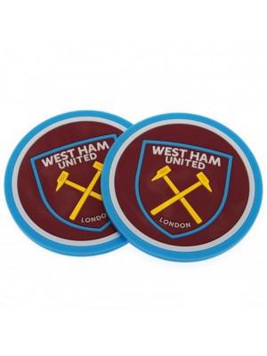 West Ham United FC 2 Pack Coaster Set