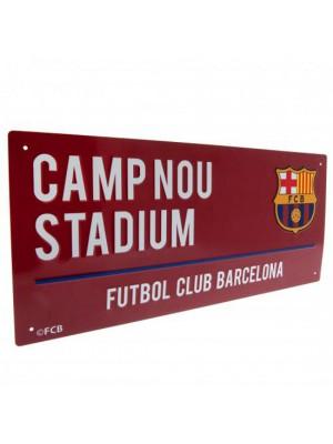 FC Barcelona Street Sign CL