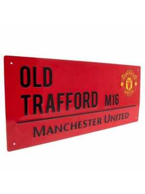 Manchester United FC Street Sign Red