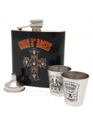 Guns N Roses Hip Flask Set