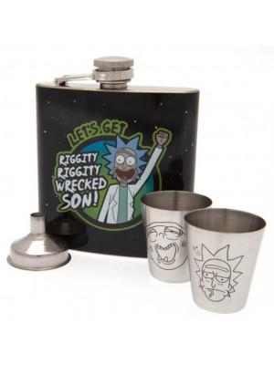 Rick And Morty Hip Flask Set