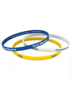 Real Madrid FC 3 Pack Silicone Wristbands