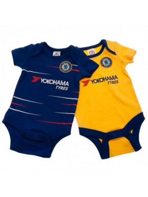 Chelsea FC 2 Pack Bodysuit 3/6 Months TS