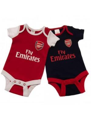 Arsenal FC 2 Pack Bodysuit 0/3 Months Nr