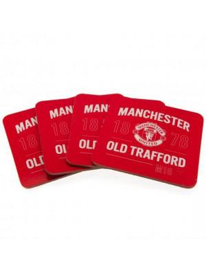 Manchester United  FC 4 Pack Coaster Set
