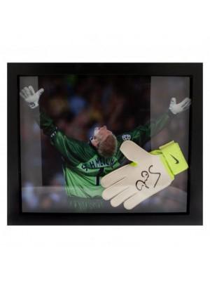 Manchester United FC Schmeichel Signed Glove (Framed)
