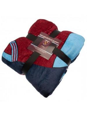 West Ham United FC Sherpa Fleece Blanket
