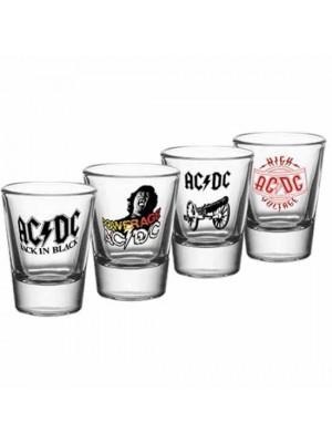 AC/DC 4 Pack Shot Glass Set