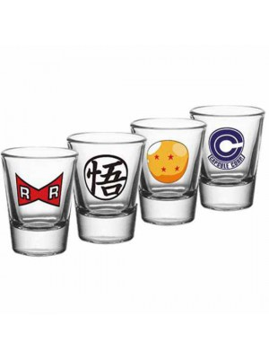 Dragon Ball Z 4 Pack Shot Glass Set