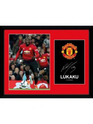 Manchester United FC Picture Lukaku 16 x 12