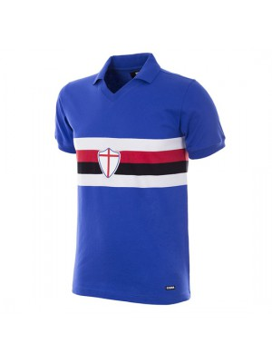 UC Sampdoria 1981 - 82 Short Sleeve Retro Football Shirt