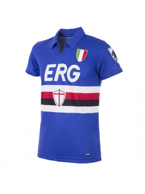 UC Sampdoria 1991 - 92 Short Sleeve Retro Football Shirt