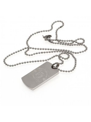Manchester United FC Engraved Dog Tag & Chain