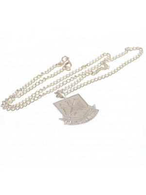 West Ham United FC Silver Plated Pendant & Chain XL CT