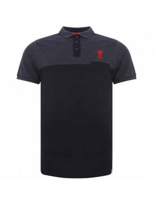 Liverpool FC Block Polo Shirt Mens Navy XL