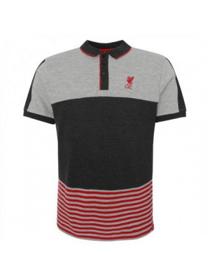 Liverpool FC Block Polo Shirt Mens Grey M