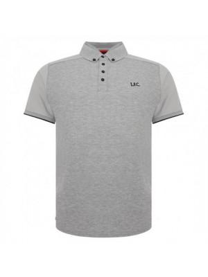 Liverpool FC Waffle Polo Shirt Mens Grey M