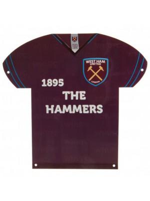 West Ham United FC Metal Shirt Sign