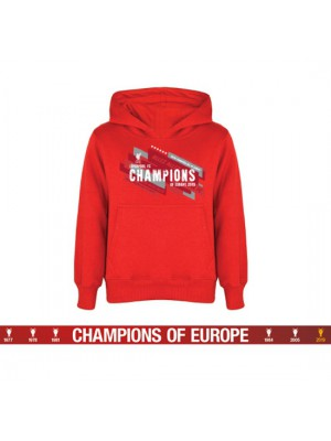 Liverpool FC Champions Of Europe Hoodie Mens XL