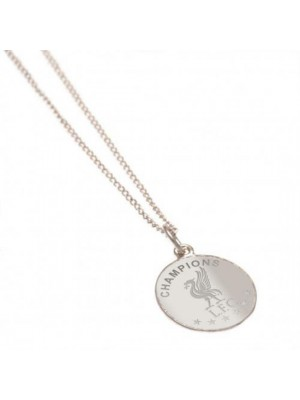 Liverpool FC Champions Of Europe Sterling Silver Pendant & Chain