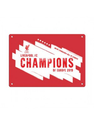 Liverpool FC Champions Of Europe Window Sign