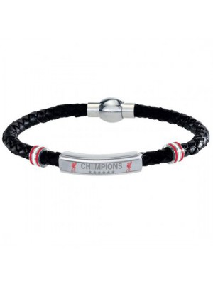Liverpool FC Champions Of Europe Leather Bracelet