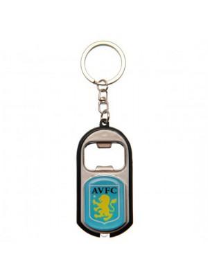 Aston Villa FC Key Ring Torch Bottle Opener