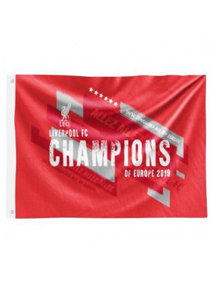 Liverpool FC Champions Of Europe Flag
