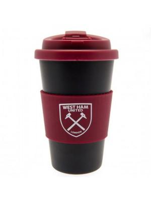 West Ham United FC Silicone Grip Travel Mug