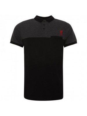 Liverpool FC Block Polo Shirt Mens Black S