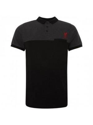 Liverpool FC Block Polo Shirt Mens Black XL