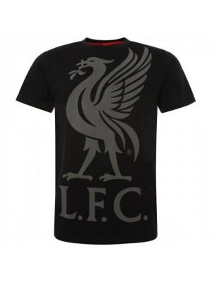 Liverpool FC Liverbird T Shirt Mens Black XXL