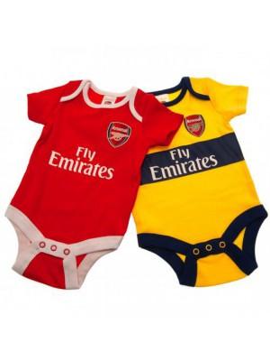 Arsenal FC 2 Pack Bodysuit 6/9 Months YL
