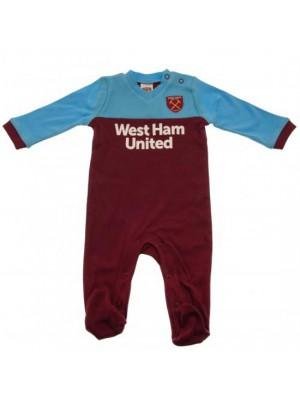 West Ham United FC Sleepsuit 6/9 Months ST