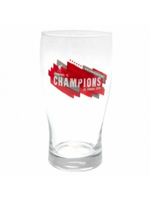 Liverpool FC Champions of Europe Tulip Pint Glass