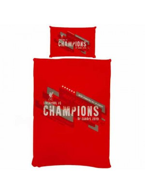 Liverpool FC Champions of Europe Single Duvet Set