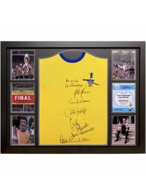 Arsenal FC 1971 Double Winners Signed Shirt Framed