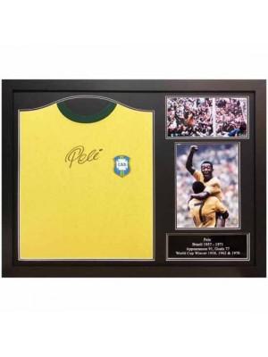 Brasil Pele Signed Shirt Framed