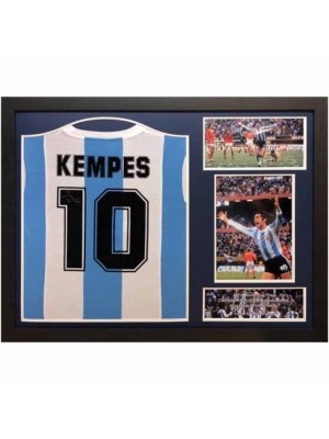 Argentina Kempes Signed Shirt Framed