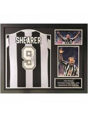 Newcastle United FC Shearer Signed Shirt (Framed)
