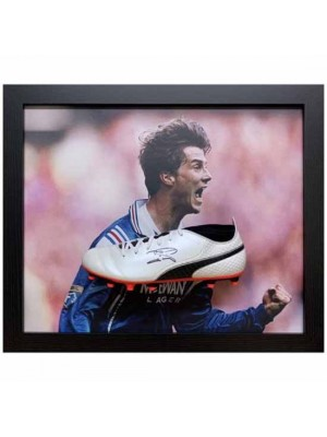 Rangers FC Laudrup Signed Boot (Framed)