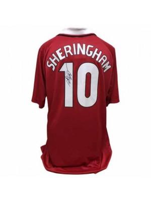 Manchester United FC Sheringham Signed Shirt