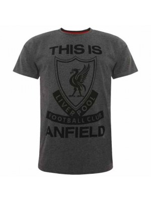 Liverpool FC TIA T Shirt Mens Charcoal S