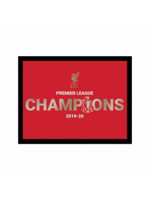 Liverpool FC Premier League Champions Metallic Picture 10 x 8