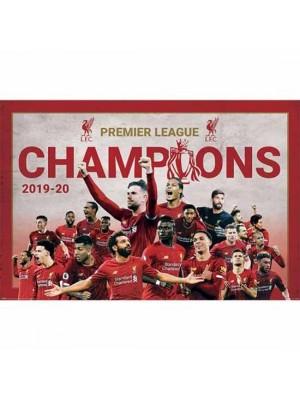 Liverpool FC Premier League Champions Poster Montage 11