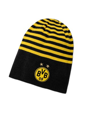 Dortmund beanie hat - reversible - black yellow