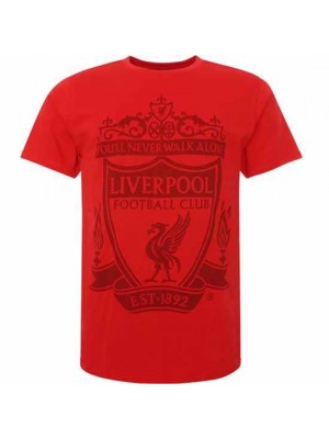Liverpool FC Crest T Shirt Mens Red M