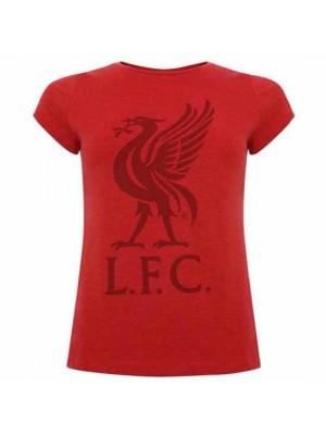 Liverpool FC Liverbird T Shirt Ladies Red 8
